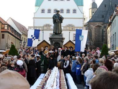 Martin Luthers Geburtstagsfest in Eisleben